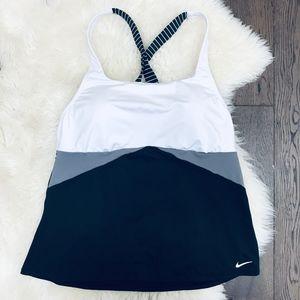 Nike Cross-Back Swim Tankinii Black White XL